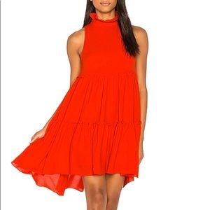 Anthropologie Orange (Poppy) dress.